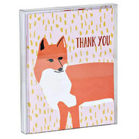 Foxy Thank You Notecard Set