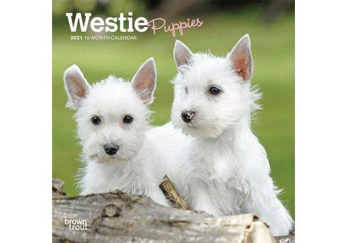 BrownTrout Publishers Westie Puppies 2022 Mini Calendar