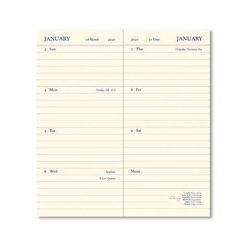 Letts of London Legacy Slim Pocket Week to View Diary with Planners 2020 Black