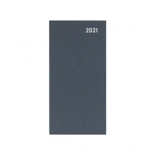 Letts of London Principal Brights Slim Week to View Diary 2021 Grey