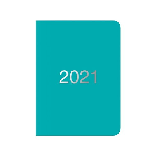 Letts of London Dazzle A6 Day-to-Page Diary 2021 Turquoise