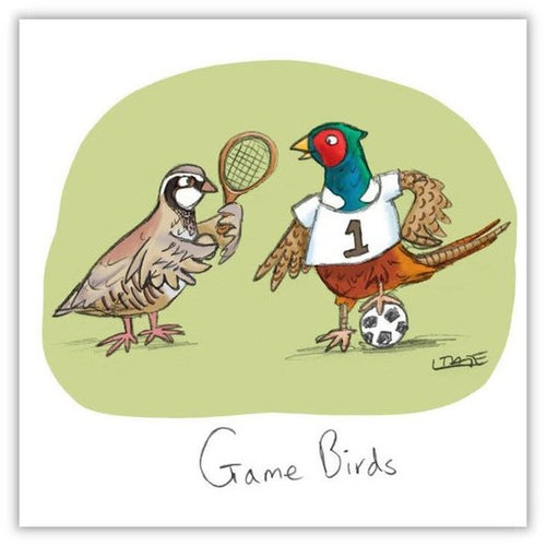 Game Birds Greeting Card