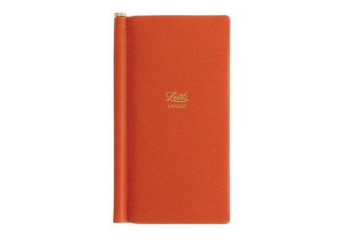 Letts of London Legacy Pocket Address Book Orange