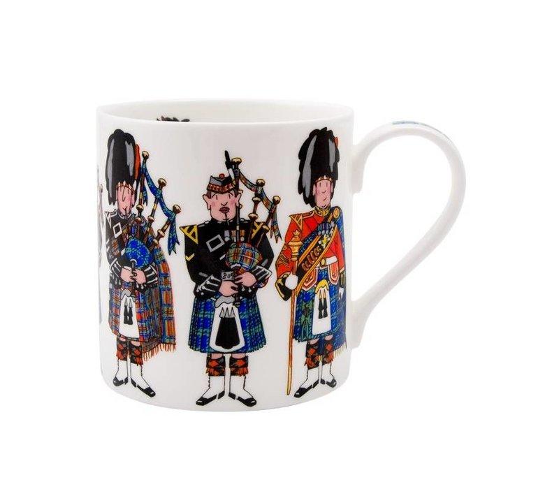 Alison Gardiner Scottish Pipers Mug