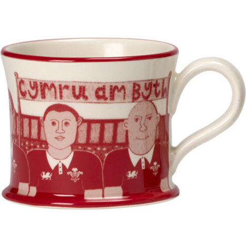 Moorland Pottery Moorland Pottery Welsh Rugby Mug