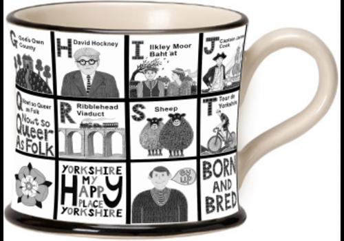 Moorland Pottery Moorland Pottery Yorkshire Alphabet Mug