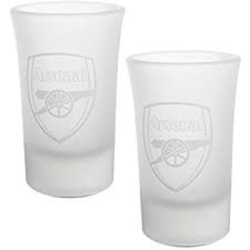 Arsenal FC2 Pack of Frosted Shot Glasses