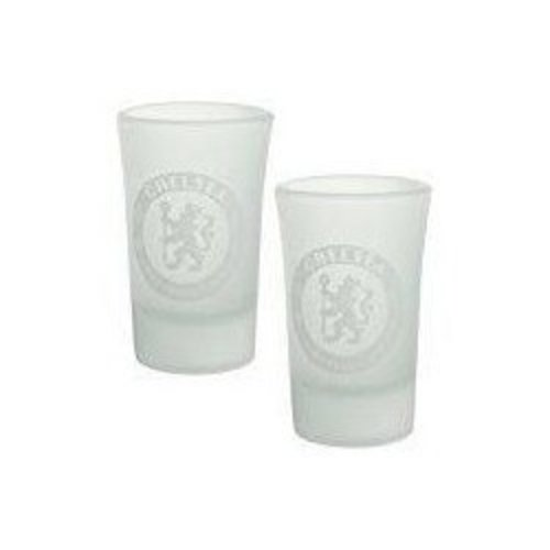 Chelsea FC2 Pack of Frosted Shot Glasses