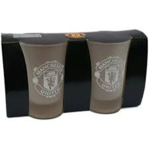 Manchester United FC2 Pack of Frosted Shot Glasses