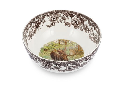 Spode Spode Woodland Round Salad Bowl Moose