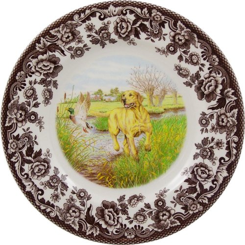 Spode Spode Woodland 20cm Salad Plate Yellow Lab