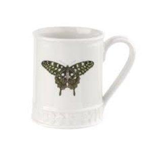 Portmeirion Botanic Garden Harmony Forest Green Butterfly Mug