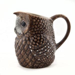 Quail Ceramics Quail Tawny Owl Large Jug
