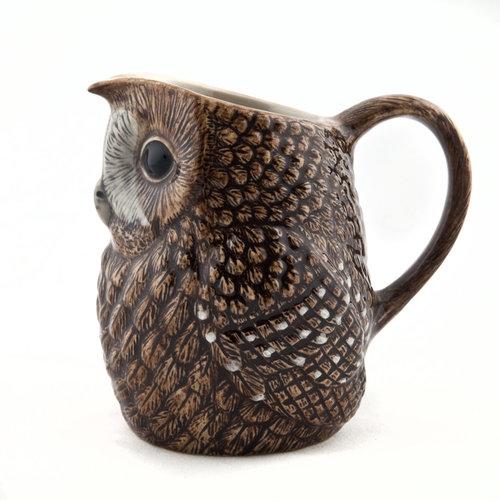"""Quail Ceramics Quail Tawny Owl 3.5"""" Jug"""