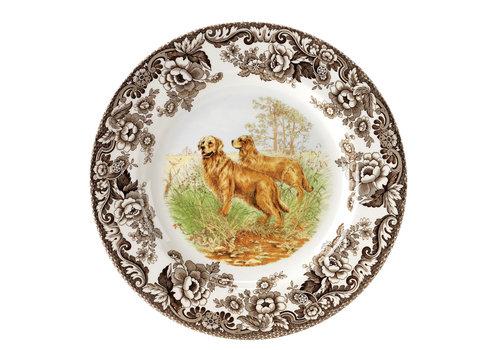 Spode Spode Woodland 20cm Salad Plate Golden Retriever