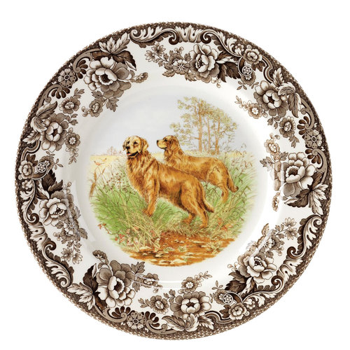 Spode Spode Woodland 20cm Salad Plate Golden Retriever