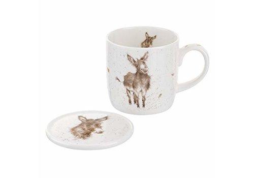 Wrendale Wrendale Gentle Jack Donkey Mug & Coaster Set
