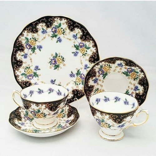 Royal Albert 100th Year Teacup, Saucer and Plate Set