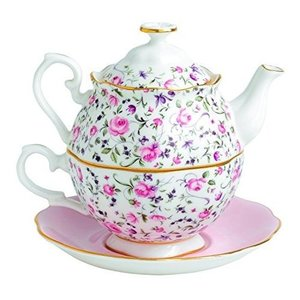 Royal Albert Rose Confetti Tea For One