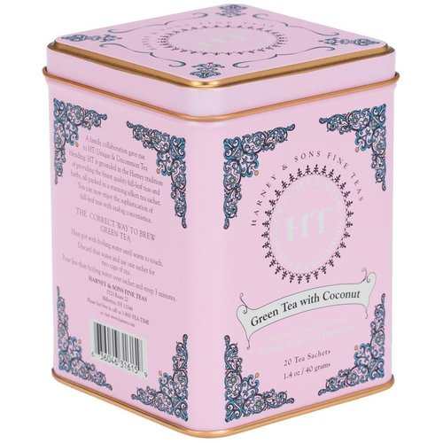Harney & Sons Harney & Sons Green Tea with Coconut 20s Tin