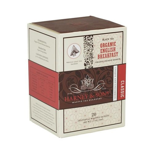 Harney & Sons Harney & Sons Organic English Breakfast Box of 20 Wrapped Sachets
