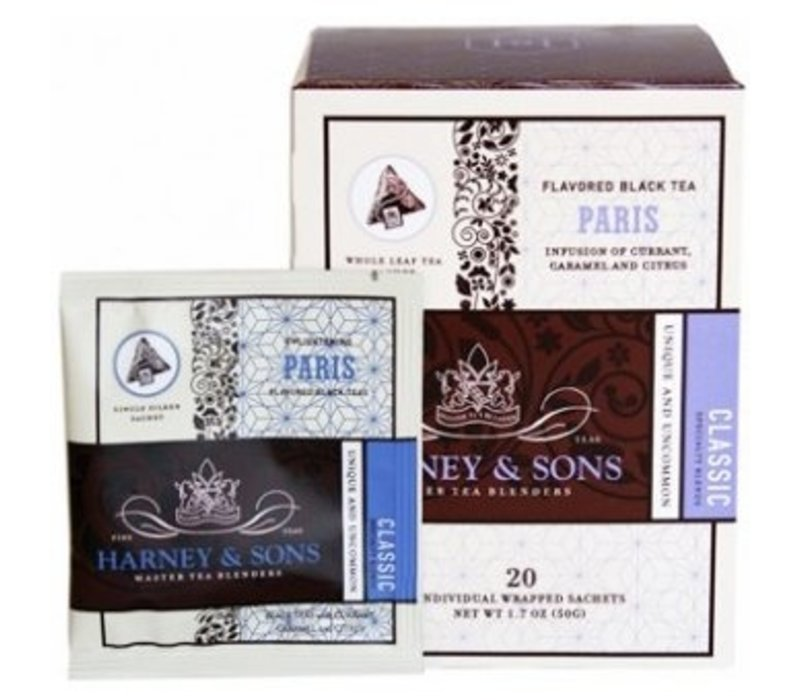 Harney & Sons Paris Box of 20 Wrapped Sachets
