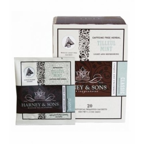 Harney & Sons Harney & Sons Tilleul Mint Box of 20 Wrapped Sachets