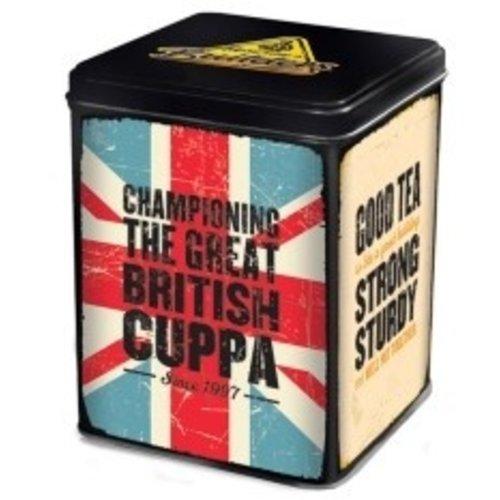 Builder's Builder's Union Jack Tea Caddy