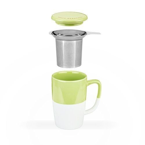 Pinky Up Delia, Green Tea Mug & Infuser by Pinky Up