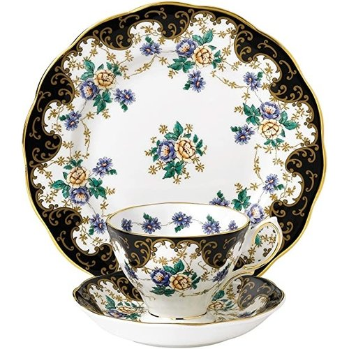 Royal Albert 100th Year Anniversary Teacup and Saucer Set and Plate 3 Piece Set