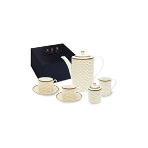 Halcyon Days Antler Trellis Ivory Tea for Two Boxed Set