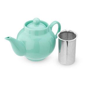 Pinky Up Regan Green Ceramic Teapot & Infuser