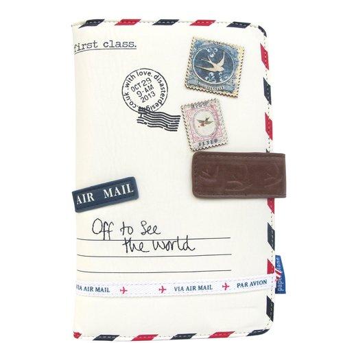 Disaster Designs Paper Plane Cream Travel Wallet