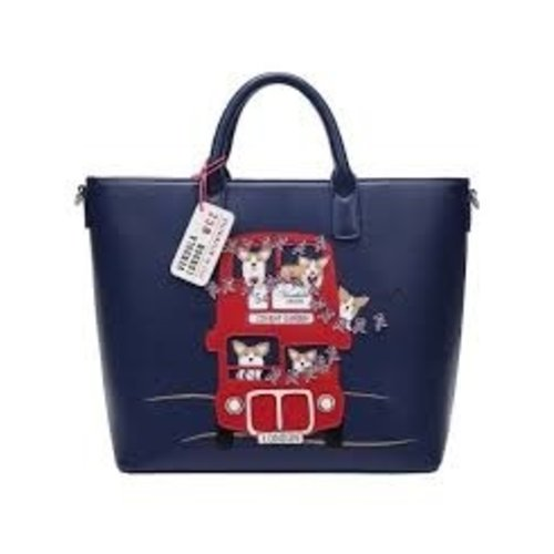 Vendula London Corgis London Bus Carry All Tote
