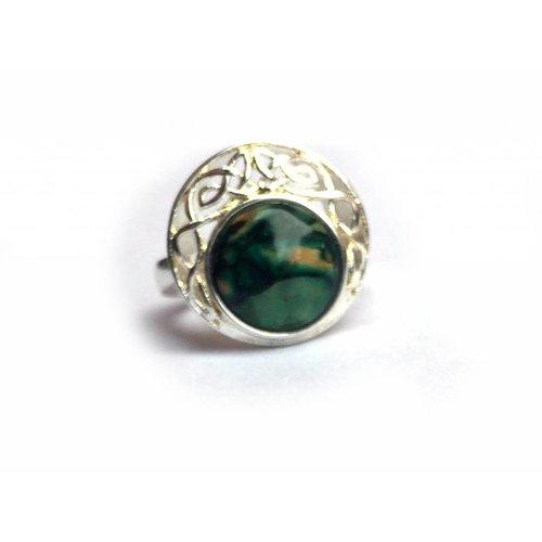 Heathergems Heathergems Silver Plated Ring-Green
