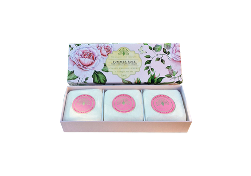 The English Soap Company Summer Rose 3xSoap 100g