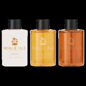 Noble Isle Noble Isle Bath & Shower Trio Gift Set 3x75ml Whisky & Water, Fireside