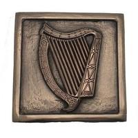 Wild Goose Irish Harp Plaque