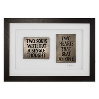 Wild Goose Two Souls With But A Single Thought  Framed Plaque
