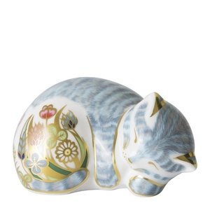 Royal Crown Derby Sleeping Tabby Kitten