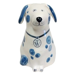 Rye Pottery Rye Dog - Blue With Initials
