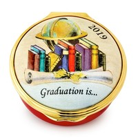Halcyon Days 2019 Graduation Enamel Box