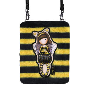 Santoro London Gorjuss Furry Shoulder Bag Bee Wallet Just Bee-Cause