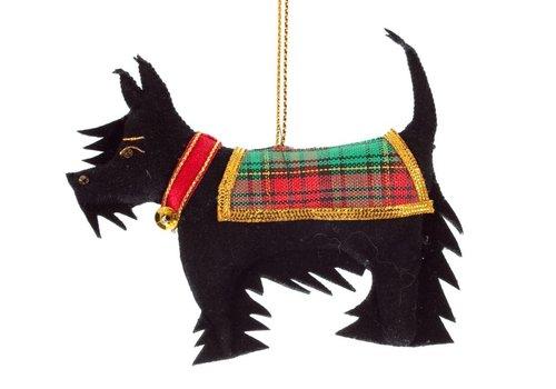 St. Nicolas St. Nicolas Black Scottie Dog Ornament