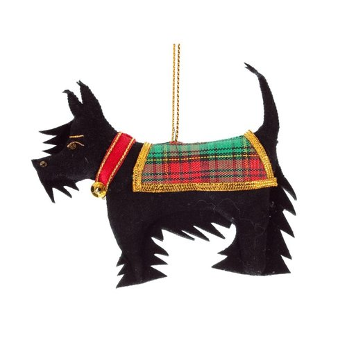 St. Nicolas St. Nicolas Black Scottie Dog Ornament