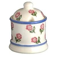 Brixton Pottery Rose Jam Pot