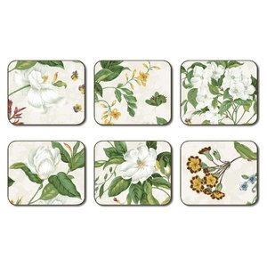 Williamsburg Garden Images Beige Coasters