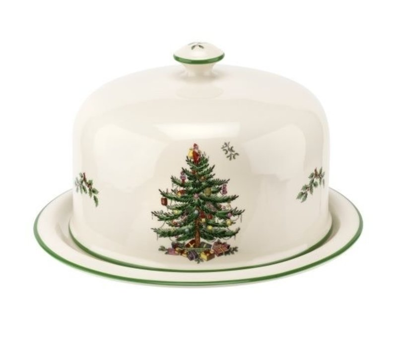 Christmas Tree Cheese Platter With Dome