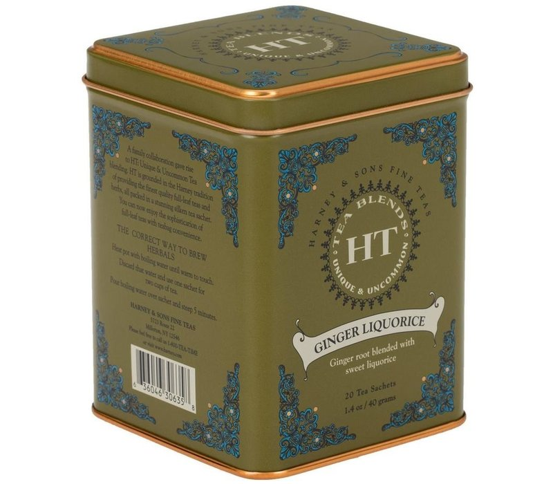 Harney & Sons Ginger Licorice 20s Tin
