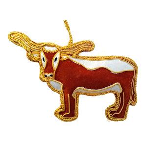 St. Nicolas St. Nicolas Texas Longhorn Ornament